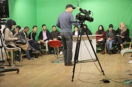 Début des cours pour le nouveau groupe Animation et présentation TV avec l'enseignant Fouad AMIOUR