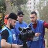 Groupe opérateur de prise de vue vidéo : exercice extérieure